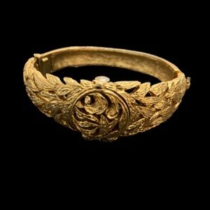 Landau mid century gold tone bracelet watch